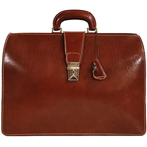 Floto Ciabatta Italian Leather Briefcase Attache (Vecchio Brown)