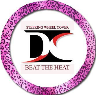 Designcovers Pink Leopard Steering Wheel Cover. Beat The Heat (Leopard Pink Cover Steering Wheel)