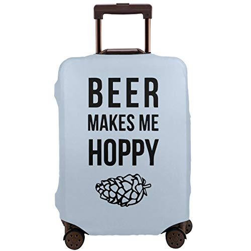 Travel Suitcase Protector Beer Makes Me Hoppy Outgoing Suitcase Protection Baggage -