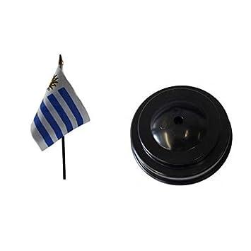 Uruguay de mesa bandera y base fútbol
