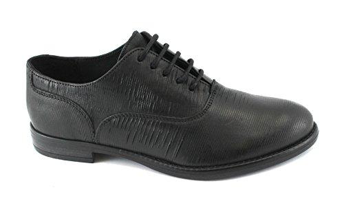 IGI&Co 88620 Schwarze Frauen Schuhe Schnürt Leder Brogues Nero