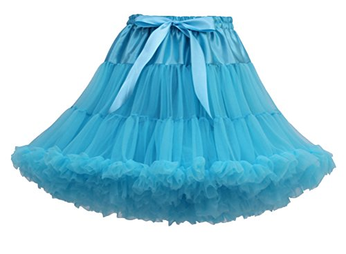 Courte Jupe Princesse Femme Tulle Genou Jupe Sous Bleu Tutu Petticoat Pettiskirt au Underkirt Jupon Peacock dw4qYgw