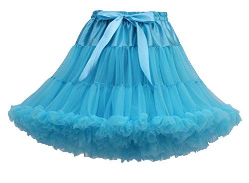Sous Pettiskirt Bleu Tutu Tulle Jupe Jupon au Courte Peacock Jupe Femme Genou Princesse Underkirt Petticoat wpUqXfFS