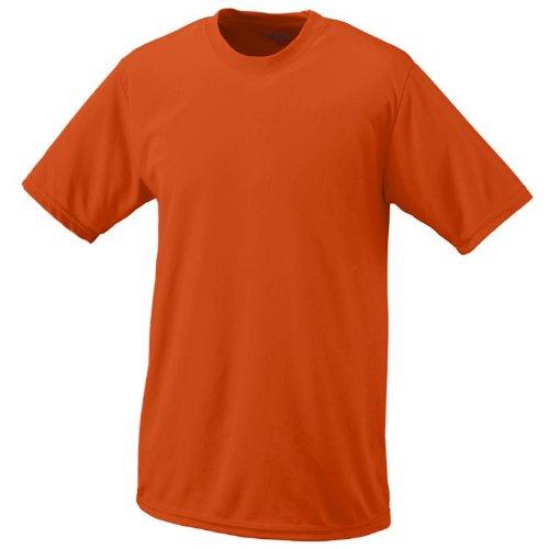 Orange, Youth Medium Performance Wicking Moisture Management Short Sleeve Cool & Comfortable Crewneck Shirt