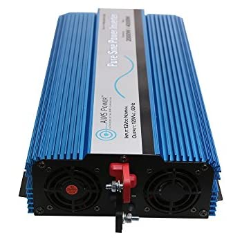 AIMS 2000 Watt Pure Sine Power Inverter 12 VDC to 120 VAC USB Port