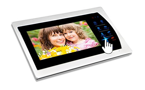 Jeatone 7'' HD Touch button Video Hands-free 2 Monitor Intercom with 2 camera Night Vision Residential Security Kit Home by Jeatone (Image #4)