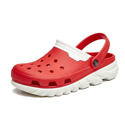 dimensioni scarpe casual estate spiaggia di fondo da WFL traspirante Foro scarpe Baotou uomo pantofole marea sandali 4 da morbido antiscivolo grandi scarpe e wzWOgv