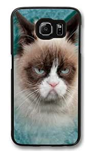 Grumpy Cat PC Case Cover for Samsung S6 and Samsung Galaxy S6 Black