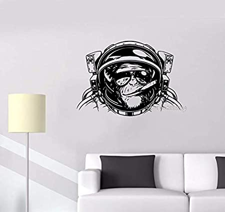 cptbtptp Etiqueta de la Pared Mono Astronauta Espacio Casco Buceo ...