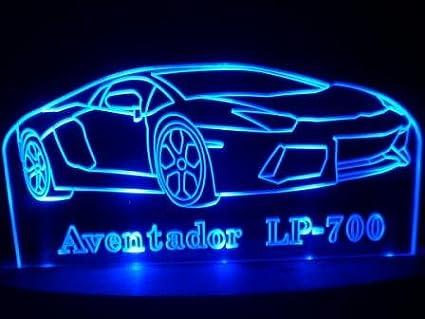 table lamp acrylic led light sport car lamborghini aventador lp 700 decorate furniture home blue