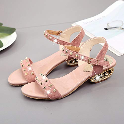 And Size Toe With Open Large Apricot Sandals Short Fashion Thick qBgX44wU