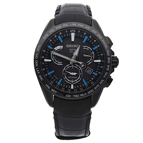 Seiko Astron GPS Solar Quartz (Battery) Black Dial Mens Watch SSE067 (Certified Pre-Owned) -  SSE067-CPO
