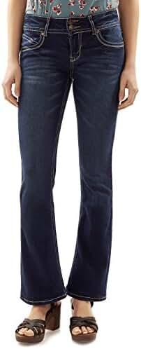 WallFlower Juniors Luscious Curvy Stretch Denim Bootcut Jeans (30
