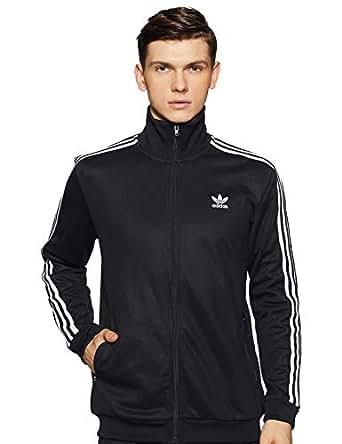 adidas Men's CW1250 Beckenbauer Tt Jacket, Black, Medium