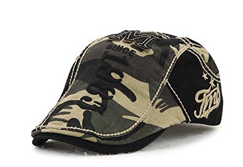 YCHY Cotton Flat Cap Duckbill Hat Newsboy Ivy Irish Cabbie Scally ... bb5521f1897