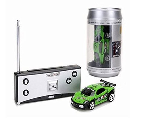 Coke Can Mini Rc Radio Remote Control Micro Racing Car 4 Frequencies  Green  By Youngstore