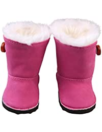 Winter Plush Snow Boots For 18 Inch American Girl Dolls Mini Shoes