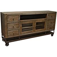 Crafters & Weavers Greenview 76 Inch Forged Iron Base Tv Stand