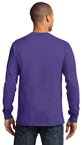 Port & Company Men's Tall Long Sleeve Essential T Shirt 2XLT Jet Black by Port & Company (Image #3)