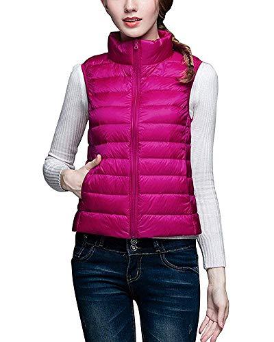 Ultra Femmes Taille Léger Rose Pour Jacket Coat Oudan Puffer coloré Gilet Xl qZwv4pxI0g