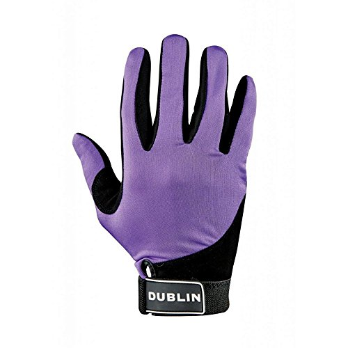 - Dublin All Seasons Riding Gloves - Purple - Adults Small