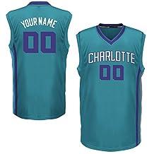 Men's Charlotte Hornets Teal Custom Replica Basketball Jersey
