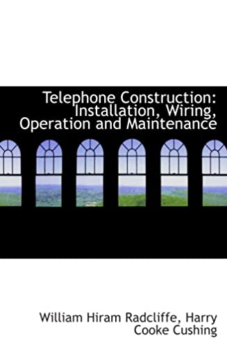 telephone construction installation wiring operation and rh amazon com Wiring From Transformer to Building Wiring Rough in Install a Home