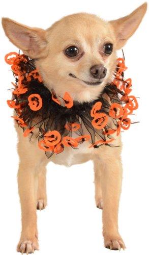 Rubie's Jack-O-Lantern Black and Orange Fancy Pet Collar, Medium - Large