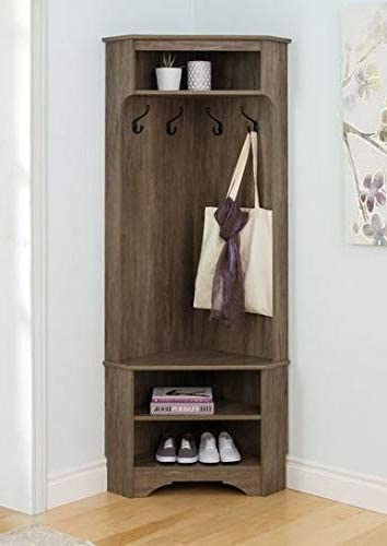 hall trees with bench and coat racks