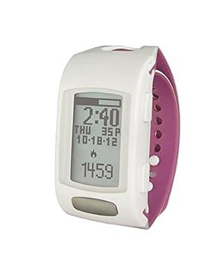 LifeTrak Zone C410W Women's 24-Hour Heart Rate Watch, White/Orchid