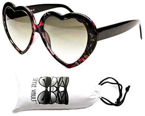 Wm507-vp Style Vault Heart Love Sunglasses (1215P #3 Lavender/Black, - Sun Gomez Selena Glasses