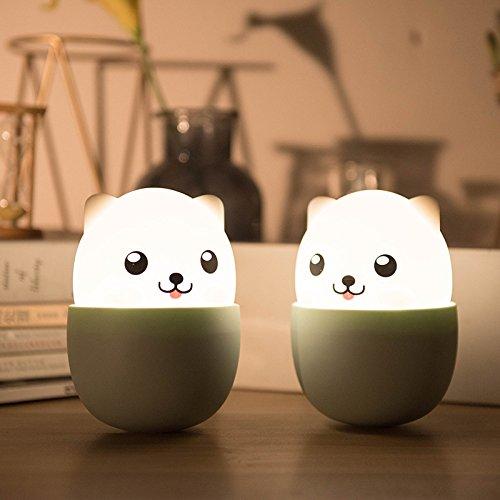 DSstylesかわいいカップ犬シリコンナイトライト授乳ランプUSB充電子供おもちゃホームガーデン装飾ギフト B07DZT62H8 B07DZT62H8, アリーズコーポレーション:56ad4be6 --- ijpba.info