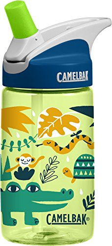 CamelBak Eddy Kids Water Bottle, Jungle Animals, .4 L