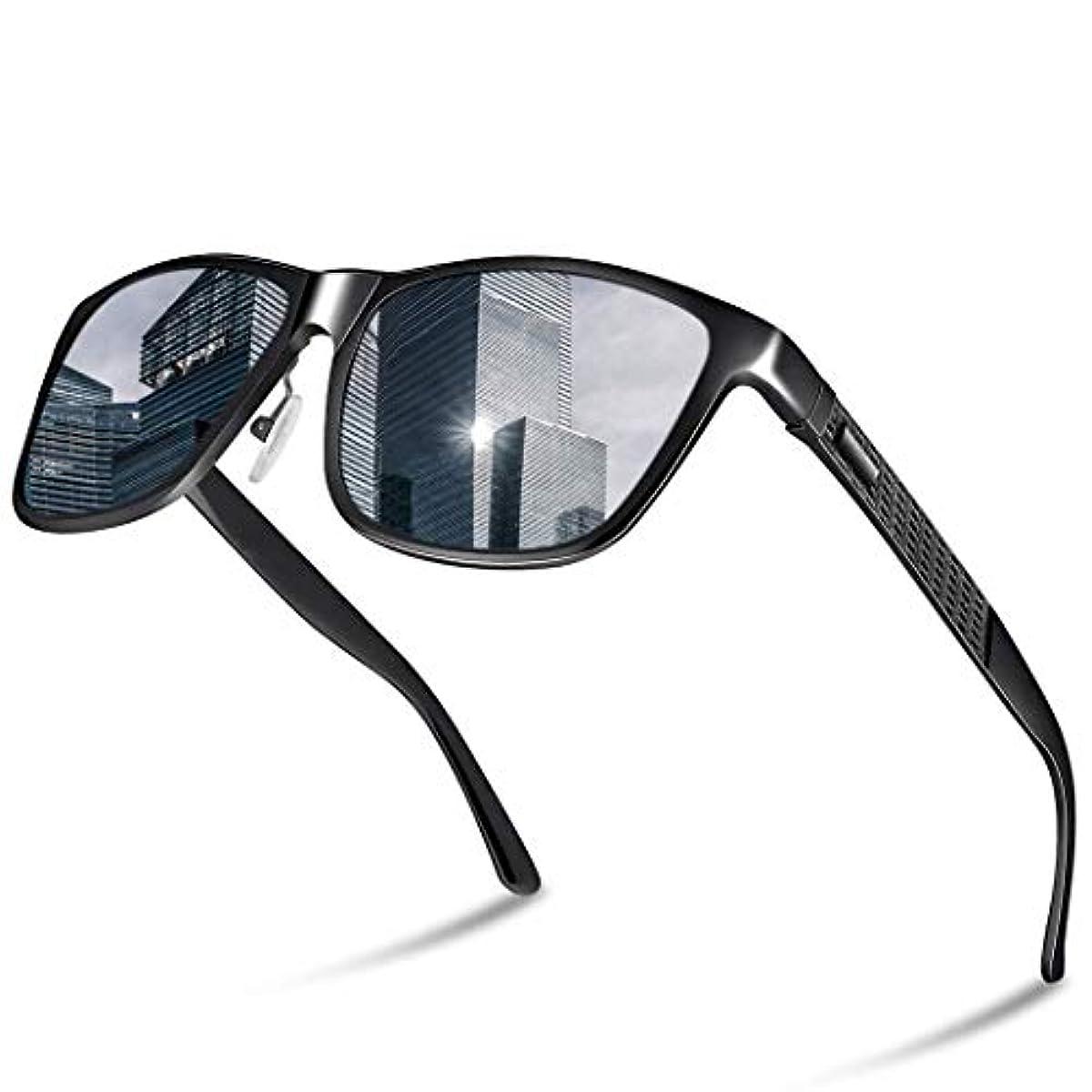 [해외] GLAZATA 편광 썬글라스 UV400 자외선 컷 메탈 프레임 스포츠 썬글라스 드라이기이브/야구/자전거/낚시/런닝/골프/운전 남녀 겸용