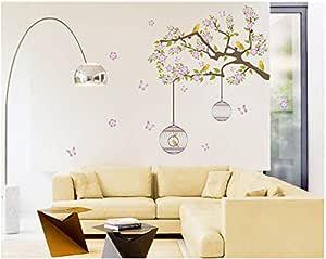ملصقات الحائط لشجرة الكرتون والحيوانات غرفة المعيشة غرفة نوم الأطفال الديكور مم ، 2724651466784