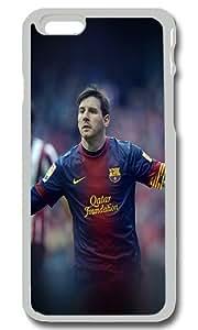 iPhone 6 Case Cover - Messi Fc Barcelona Soccer Sports Custom iPhone 6 Case 4.7Inch Hard Plastic Transparent Pumper Case