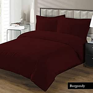 """100% Egyptian cotton Fitted Sheet With 20"""" Deep Pocket 500 Thread Count Solid King, Burgundy Created By Linen Delux"""