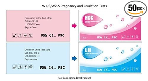 LH Combo Pack 40 HCG Pregnancy Test Strips Ovulation Tests 10