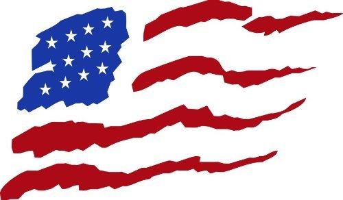 American Flag Die Cut Vinyl Decal Sticker 6