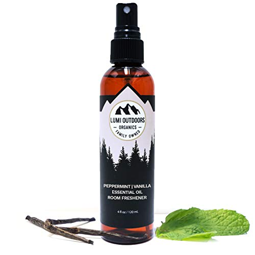 (Natural Air Freshener - Peppermint Vanilla - Essential Oil Odor Eliminating Room Spray)