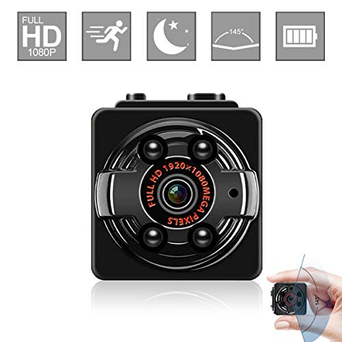 Mini Hidden Camera Wireless Spy Video Camera Full HD 1080P Small Nanny Cam with Night Vision Motion Activated Indoor Covert Security Cameras Surveillance Cam for Car Home Office