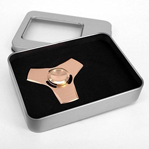 Sinwo Hand Spinner Fidget Copper Ball Desk Focus Toy(whit