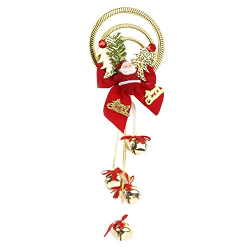 Firecolor Christmas Decorations Assorted Jingle Bells Door Hanging Ornament Christmas Holiday Door Knob Hanger Decoration,Gold