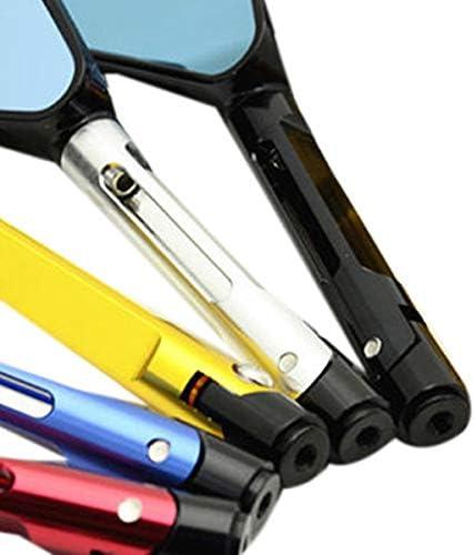 Growment Specchietto Retrovisore Specchietto Retrovisore Specchietto Retrovisore Laterale in Alluminio per Moto Sportiva Rizoma Accessori Moto Nero