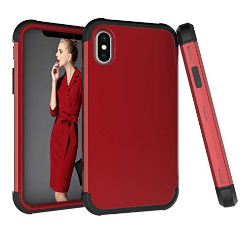 iPhone Xs Max Case, ZERMU Shockproof Protection Soft Interior Silicone Bumper&Hard Shell Solid PC Back Armor Defender High Impact Rugged Bumper Anti-Scratch Case for iPhone Xs Max 6.5 inch (2018)