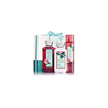 Bath Body Works Hello Beautiful – Wrapped with a Bow Gift Set – Body Lotion – Shower Gel and Fine Fragrance Mist