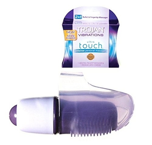 Trojan Vibrations Vibrating Ultra Touch [This Unique Vibrator Attaches to Your Finger, Giving You Enhanced Stimulation.