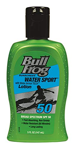 Bullfrog Sunscreen Water Sport Water Resistant Sunscreen Broad Spectrum SPF 50 (5 Fluid Ounce)