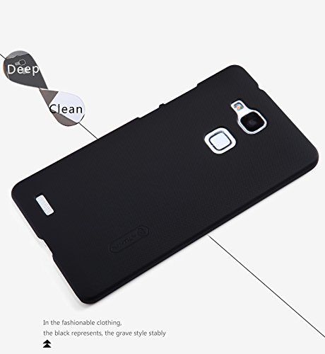 IVSO Huawei Ascend Mate 7 Super Matte Shield Cover High Quality Case+ Crystal Clear Screen Protector -will only fit Huawei Ascend Mate 7 Smartphone (Black)