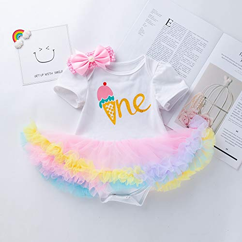 D.B.PRINCE Newborn Baby Girls Birthday Tutu Dress Cotton Floral Romper Bodysuits Lace Skirt Clothes Outfit